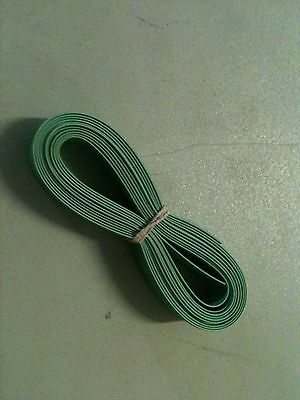 """1/2"""" ID / 13mm ThermOsleeve GREEN Polyolefin 2:1 Heat Shrink tubing- 10' section"""