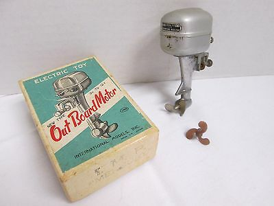 Electric Toy Outboard Motor I.M.P. Mercury 3V to 12V Original Box Included