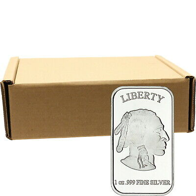 American Buffalo 1 oz .999 Fine Silver Bar by SilverTowne - Monster Box OF 500