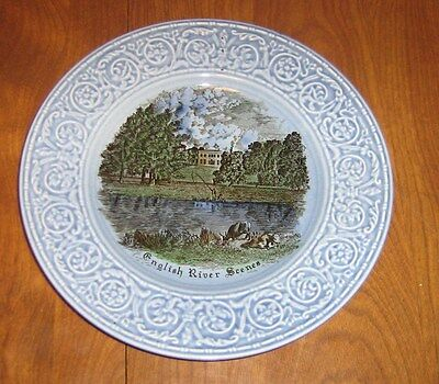 Vintage Crown Devon S.Fielding & Co. English River Scenes Plate-Made in England