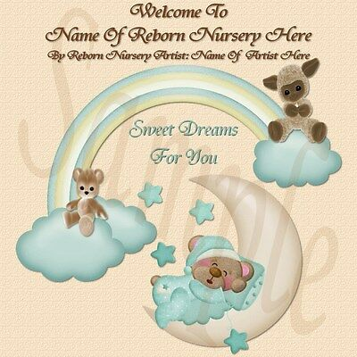NEW ~REBORN SWEET DREAMS AUCTION TEMPLATE WITH OR WITHOUT MUSIC+FREE LOGO~ DOUA