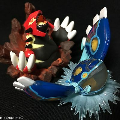 Primal Groudon & Primal Kyogre Figure Set x2 (NEW) Pokemon TCG from box x2 Lot