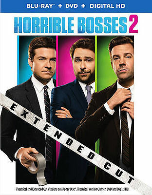 Horrible Bosses 2 (Blu-ray/DVD, 2015, 2-Disc Set, Extended Cut; Includes...