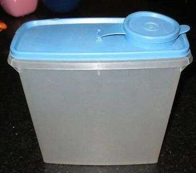 Vintage Tupperware Modular Mates Blue Lid 469 Cereal Keeper Storage Container