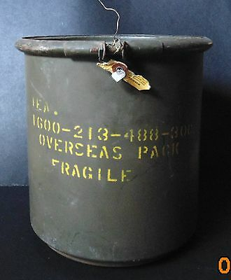 US  MILITARY 1950'S REUSABLE METAL STORAGE CONTAINER AN8029