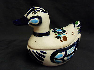 MADE IN MEXICO POTTERY DUCK CANDY DISH/TRINKET BOX
