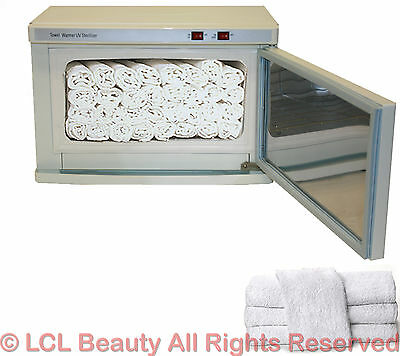 2 in 1 Hot Towel Warmer Cabinet UV Sterilizer 24 Hand Towels Spa Salon Equipment