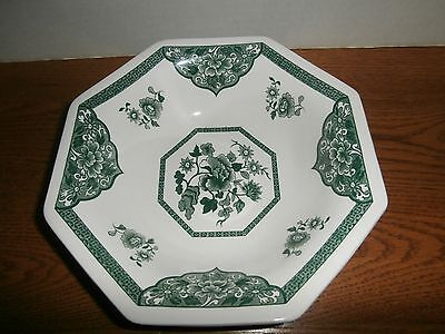 J&G MEAKIN OLD PEKIN GREEN VEGETABLE BOWL 8 -1/2  INCH PERFECT COND