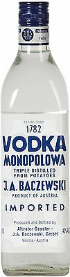 J. A. Baczewski Vodka Monopolowa 750mL - the world's first vodka brand