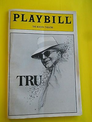 February 1990 - Booth Theatre Playbill w/Ticket - TRU - Truman Capote - Morse