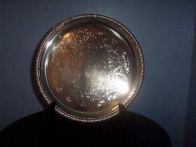Vintage Silver Plate Serving Tray Home and Kitchen Dining Decor Holiday