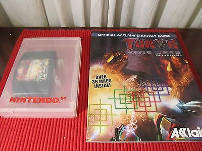 Nintendo 64 Turok Rage Wars in Plastic Hard Case Official Acclaim Strategy Guide