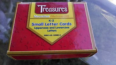 Treasures: Macmillan/McGraw–Hill K-2 Small Letter Cards: Upper/Lowercase Letters