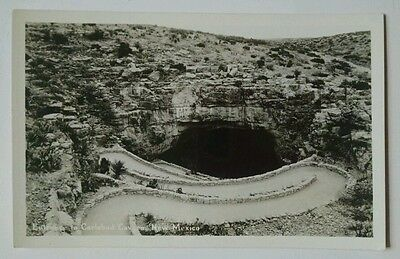RPPC Entrance to Carlsbad Cavern New Mexico NM Vintage Postcard A8