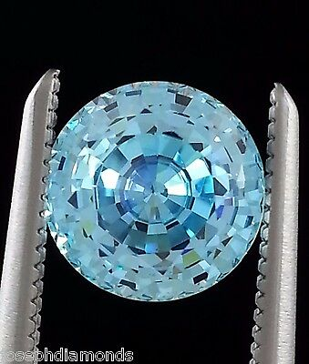 ROUND BRILLIANT Loose Lannyte Lab Created FANCY BLUE Diamond .50,1,2,3,4,5,6 ct