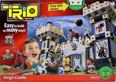 Fisher-Price Trio Kings Castle Building Set New Sealed