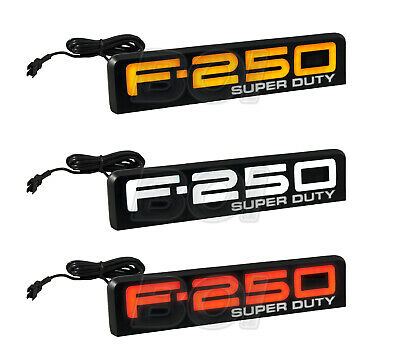 2008-2010 Ford F-250 Super Duty White Amber or Red Illuminated Fender Emblems