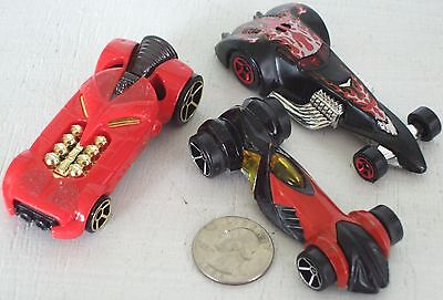 """Diecast 3-pc Indy Unusual Race Cars #2 USED approx 3"""" See Photo"""