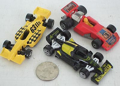 """Diecast 3-pc Indy Race Cars #7 USED approx 3"""" See Photo"""