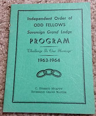 Independent Order of Odd Fellows Sovereign Grand Lodge Program 1963-1964 Pamphle