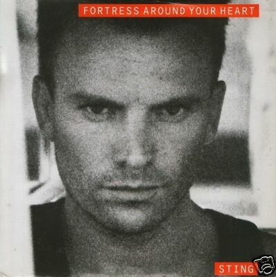 """STING fortress around your heart 7"""" PS EX/EX uk a&m"""