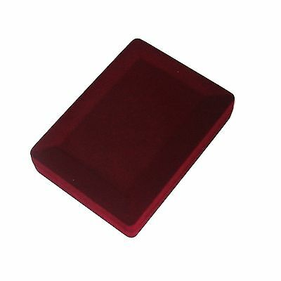 New 1-6-12- 24-48-144 pcs Burgundy Velvet Small Necklace Jewelry Gift Boxes