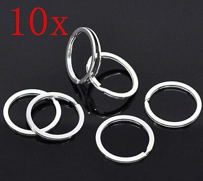 10p HS8 Metal Key Holder Split Rings Keyring Keychain Keyfob Accessories 25mm 1""