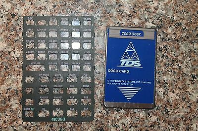 TDS Cogo card for HP 48GX Calculator With overlay