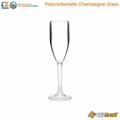 Oztrail Polycarbonate Champagne Glass Camping Picnic Caravan Kicthen - OCP-PGC-D