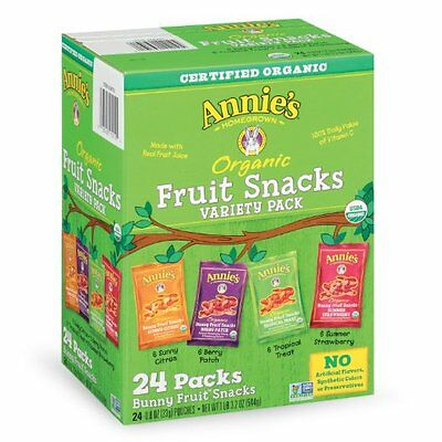 Annie's Homegrown Organic Bunny Fruit Snacks Variety Pack by Annie's Homegrown