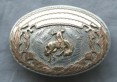 Vintage Wil Aren Hand Made Engraved Horse Rodeo Cowboy Western Belt Buckle