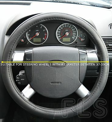 Land Rover Faux Leather Steering Wheel Cover Protector Black