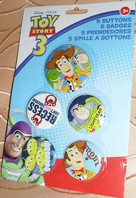 5 Button Toy Story Walt Disney Buttons Anstecker Deko GAC