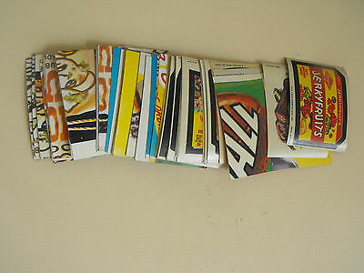 Large Lot of Topps Wacky Packages Cards Stickers Checklists