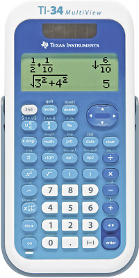 Schulrechner Texas Instruments TI-34 MULTIVIEW Weiß, Blau Display (Stellen): 16
