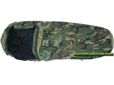 USMC BDU Modular Sleep System US Military MSS 4 Piece Woodland Camo Sleeping Bag