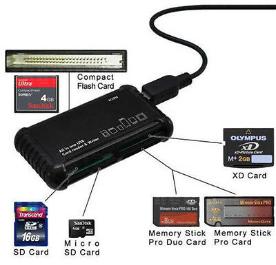 Xit All-in-1 High Speed Memory Card Reader/Writer #XTALLCR1 slots for most cards