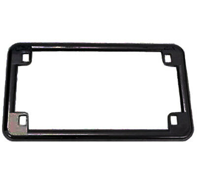 Emgo Black License Plate Frame Use On All Motorcycles Or Custom