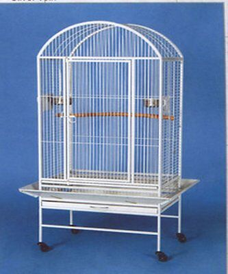 Dometop Large Bird Cage Parrot Cages Macaw African Grey Cockatoo Safety Lock Wht