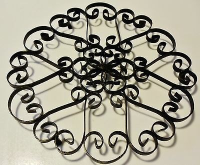 Wrought Iron TRIVET - Hand Forged Scroll Work from Spain - Mid Century Antique