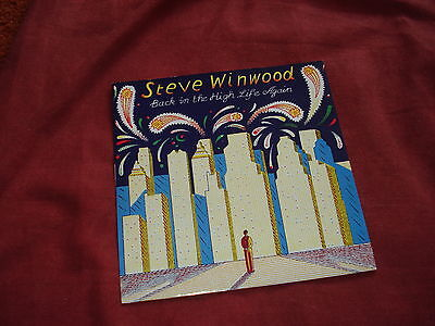 "STEVE WINWOOD Back in the high life again 7"" ROCK POP"