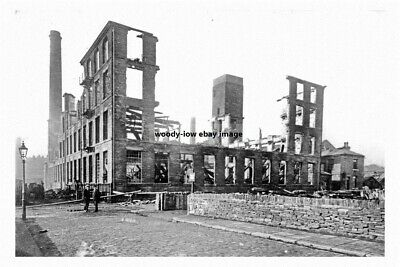 pt1243 - Owler Ings Mill Fire 1921 , Brighouse ,  Yorkshire - photo 6x4