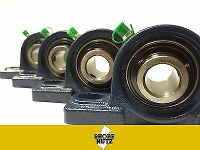 "(4 PIECES) 1/2"" Pillow Block Bearing, UCP201-8 Solid Foot P201"