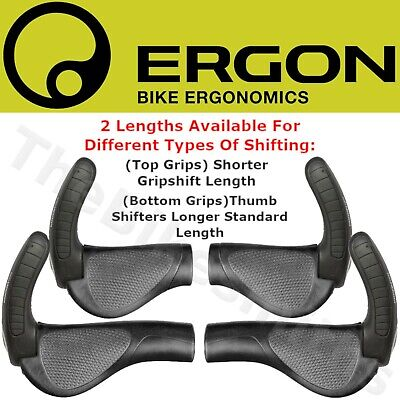 Ergon GP3- L & S Standard Grip or GripShift Length w/Adjustble Flat Bar end Ergo