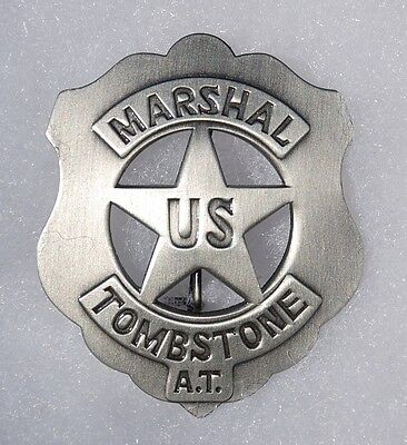 US Marshal Tombstone A.T. Sheriff Old West Replica Lawman Badge Deputy PH034
