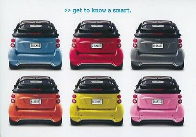 2013 Smart Fortwo Coupe & Cabriolet ORIGINAL Large Factory Postcard my2365