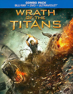 WRATH OF THE TITANS 2012 COMBO PACK BLU-RAY DVD PRE-OWNED FREE SHIPPING