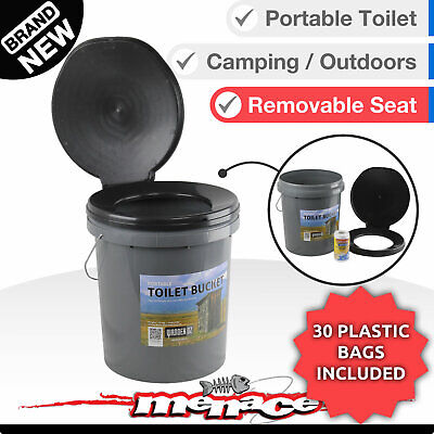 Portable Outdoor Toilet Box 20L Thunder Boom Bucket Travel Camping Bush Dunny