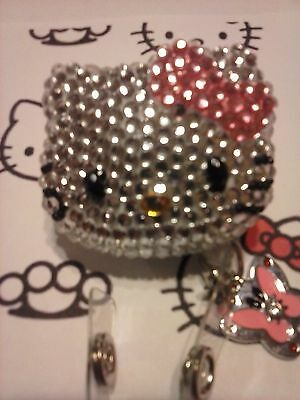 """SALE! """"Badges for Paws"""" Hello Kitty - Bling ID Badge Holder (You choose)"""