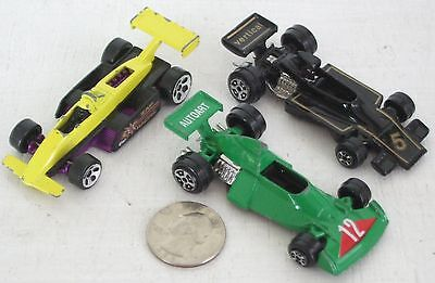 """Diecast 3-pc Indy Race Cars #1 USED approx 3"""" See Photo"""